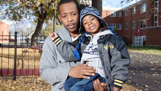 Photo of a Dad and Son, members of Metro