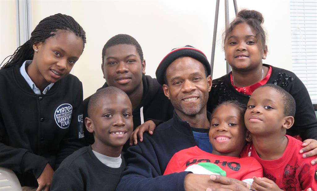 Photo of Rayal Blackman and his family