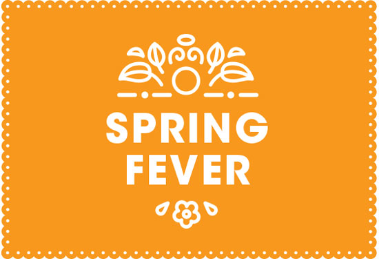 Illustration of a poster that promotes the Metro Spring Fever event